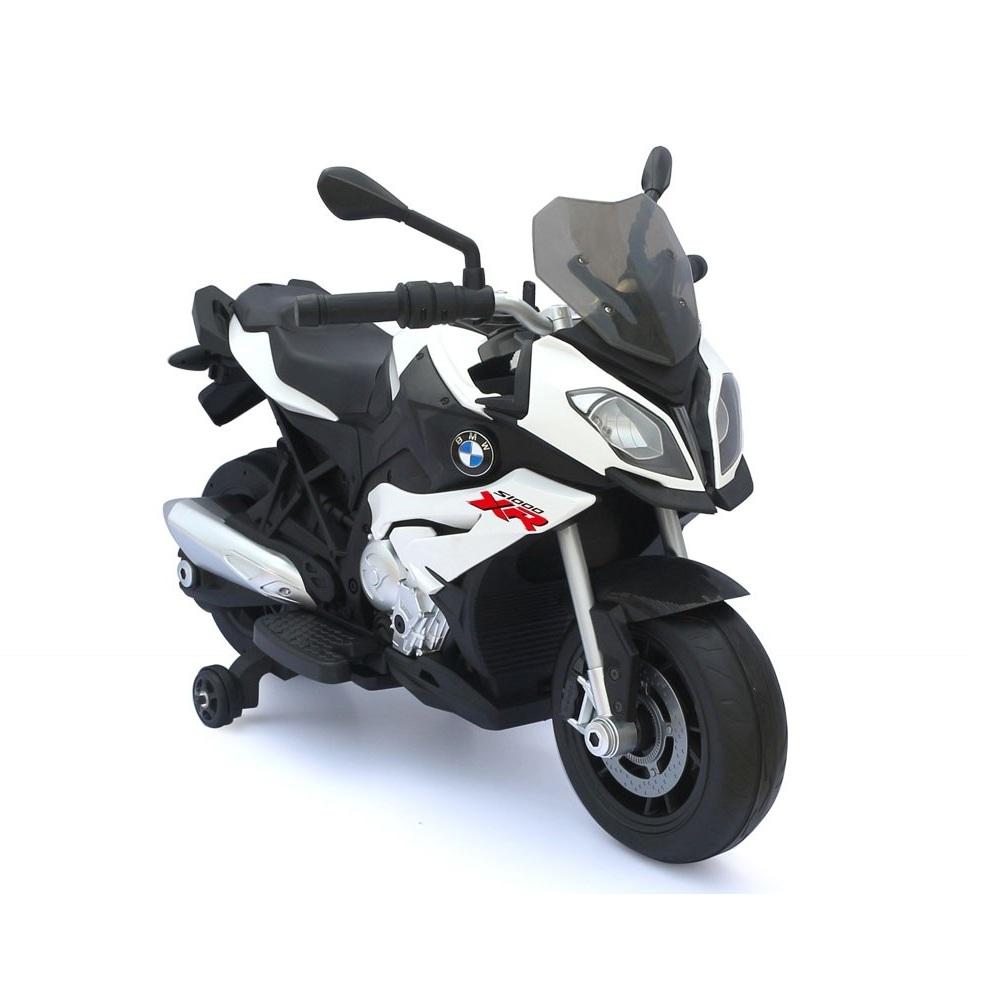 Bērnu elektro motocikls ar akumulatoru BMW BMW-87700-BIAŁY