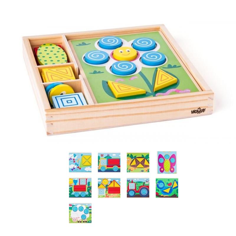 Attīstošā spēle mazajiem Iepazīsti formas Woody WD91915
