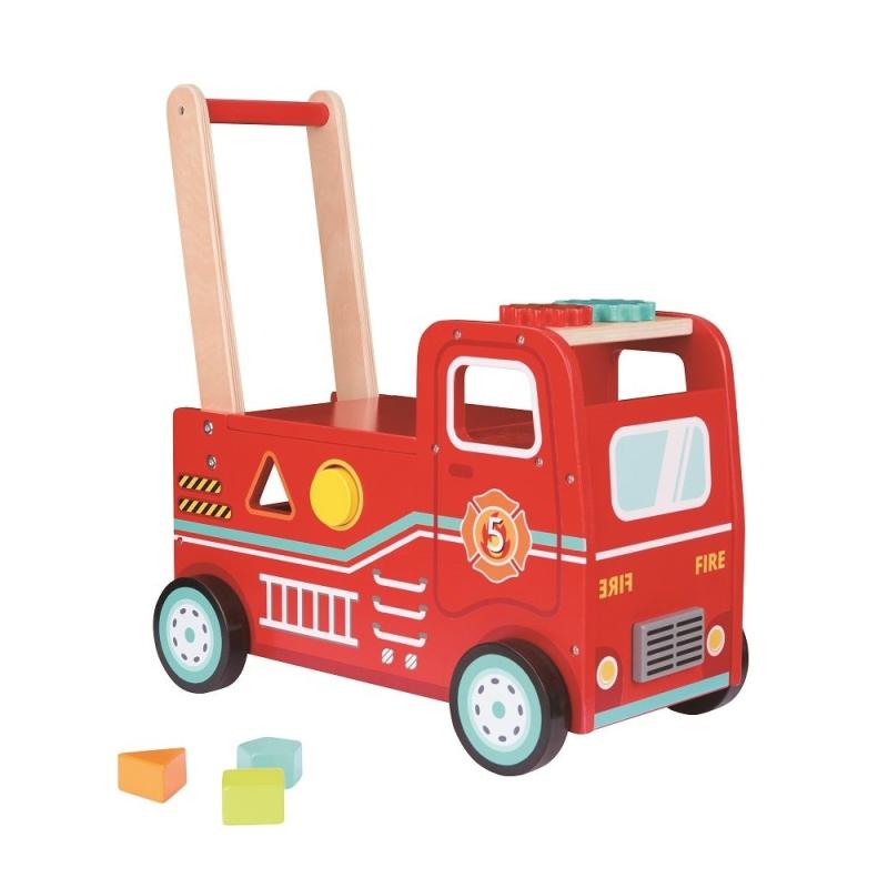 Stumjama rotalļieta ķerra Ugunsdzēsēju mašīna Lelin L10304