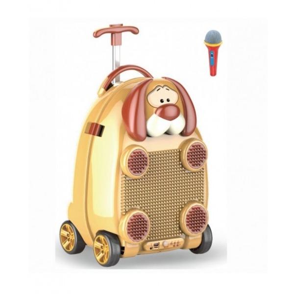 Bērnu koferis - tumbiņa ar mikrofonu, ritenīšiem un rokturi 1986083989038