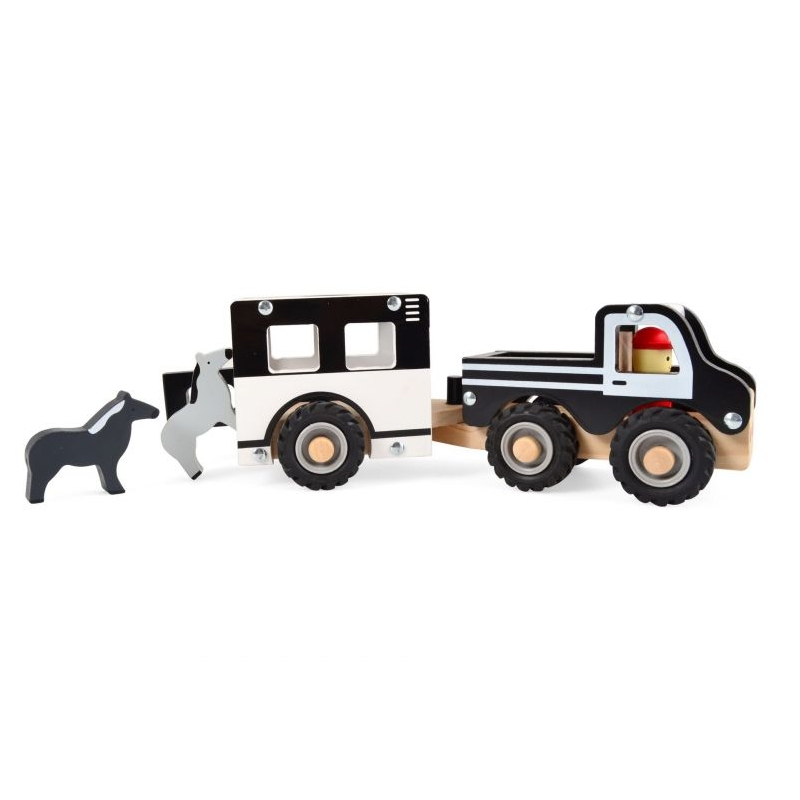 Koka kravas mašīna ar zirgiem Ferma Pull-back Magni MG2979