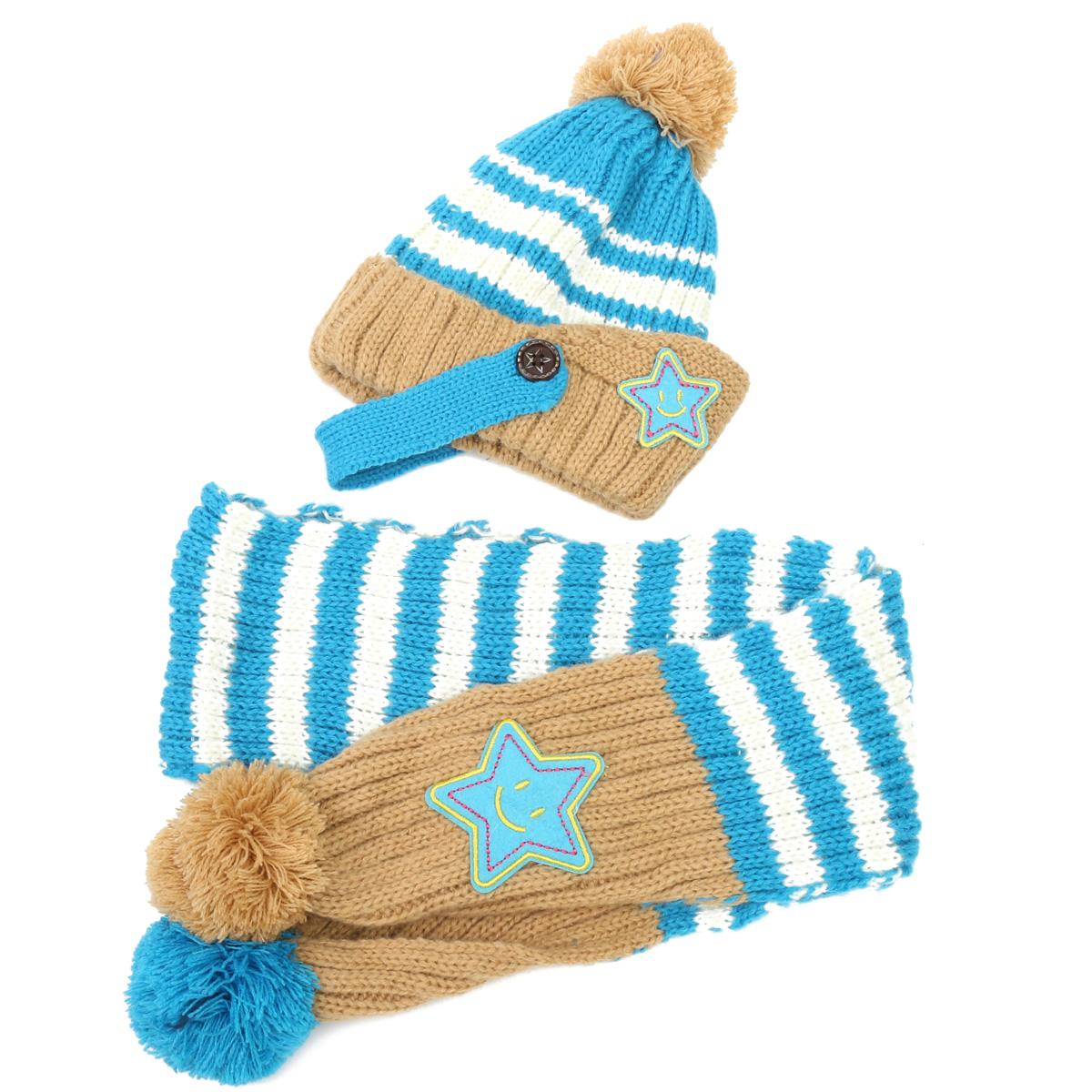 "Adīta cepure un šalle ""STAR"" 0"