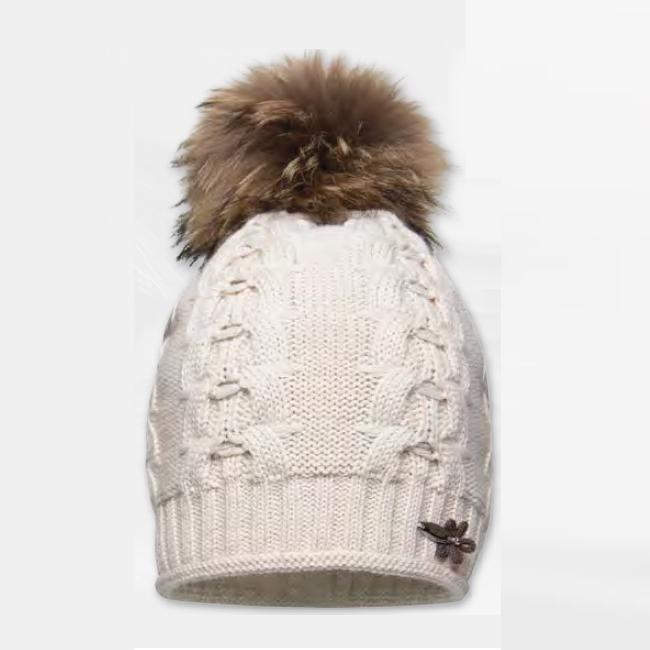 Cepure ar dabīgo bumbuli BARBARAS WJ38