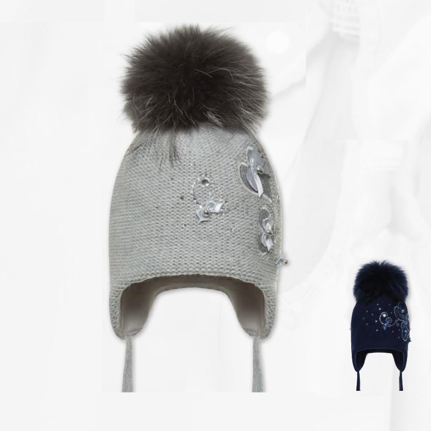 Cepure ar dabīgo bumbuli BARBARAS WJ27