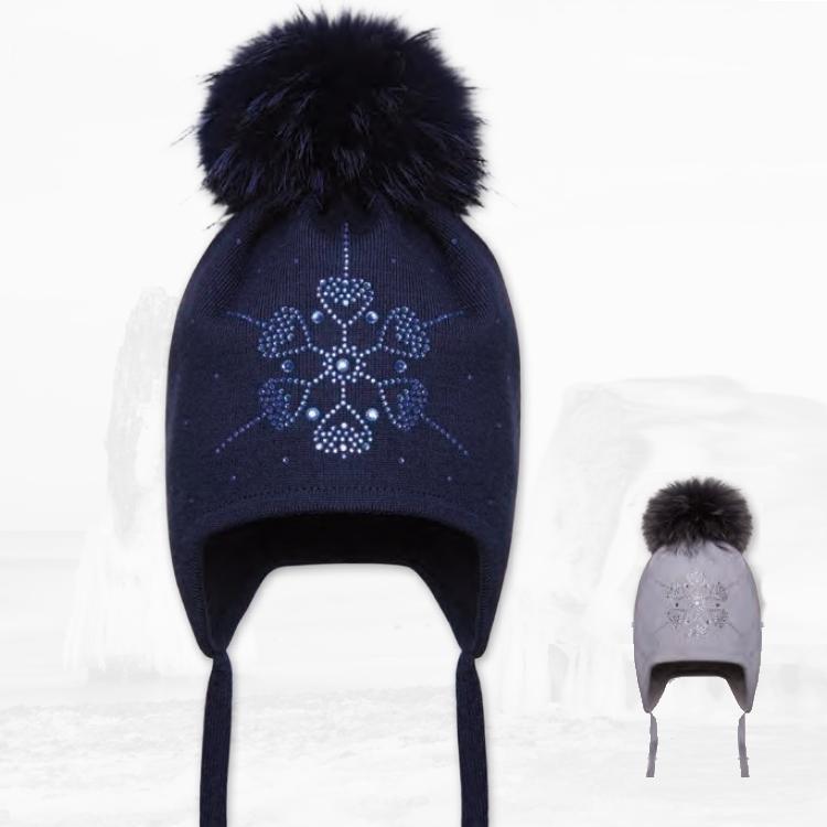 Cepure ar dabīgo bumbuli BARBARAS WJ49