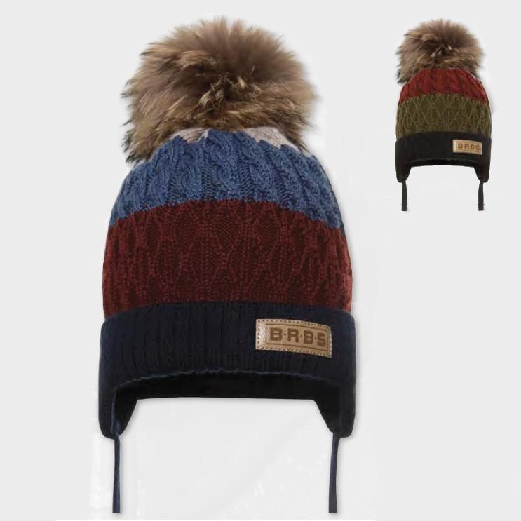 Cepure ar dabīgo bumbuli BARBARAS WJ33