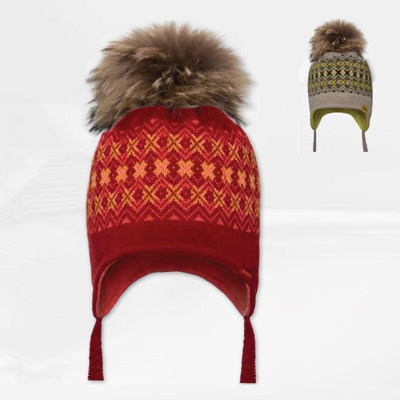 Cepure ar dabīgo bumbuli BARBARAS WJ40
