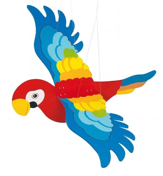 Piekaramā rotaļlieta – papagailis Goki GK454