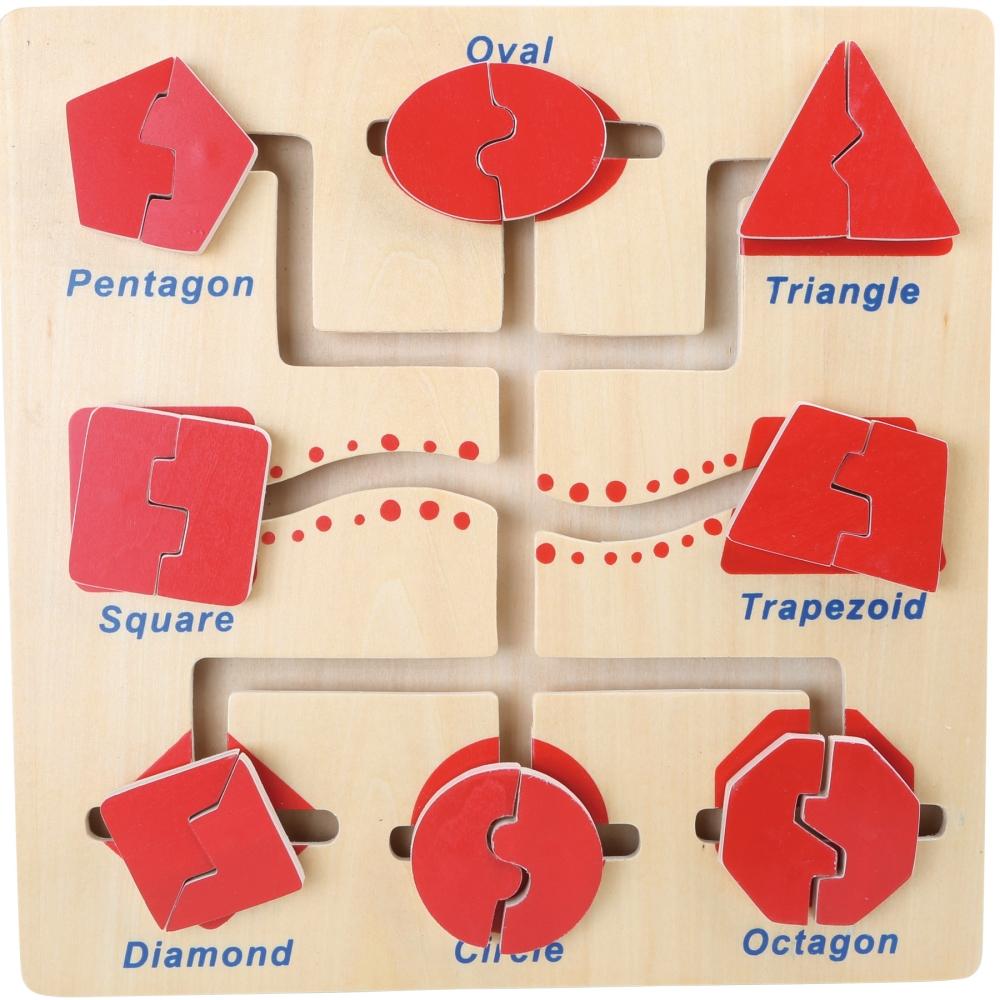 Ģeometriskas figūras puzle - labirints Small foot 5716