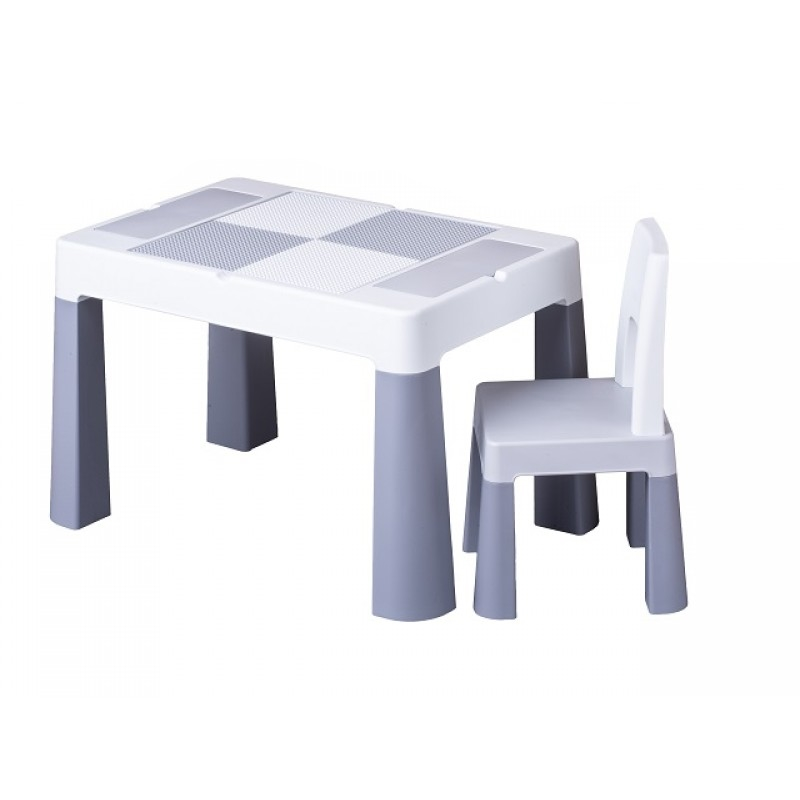 Rotaļu galds ar krēslu MULTIFUN TegaBaby TEGA-MF001.GREY