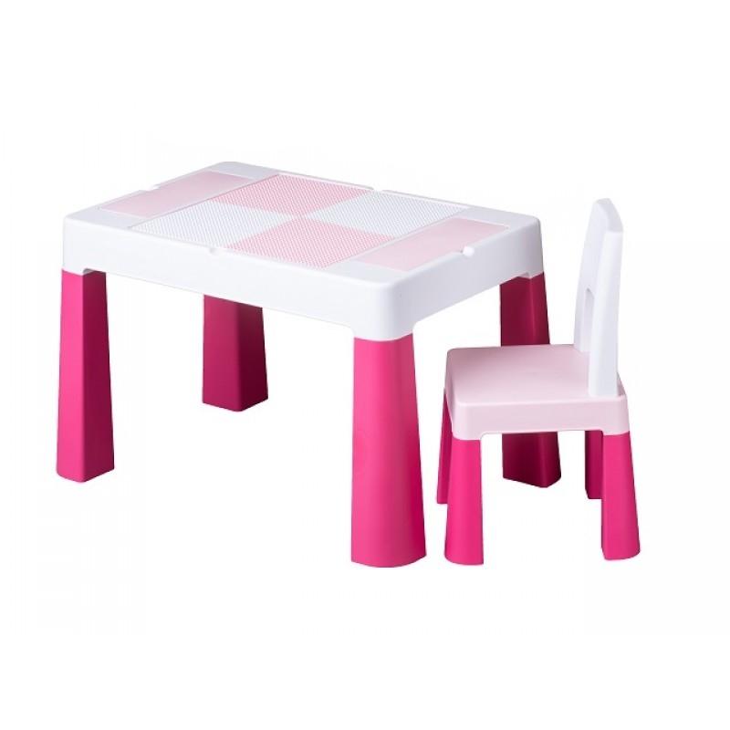 Rotaļu galds ar krēslu MULTIFUN TegaBaby TEGA-MF001.PINK