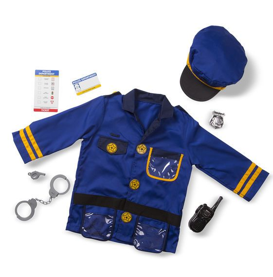 Karnevāla kostīms bērniem Policists Melissa and Doug 14835