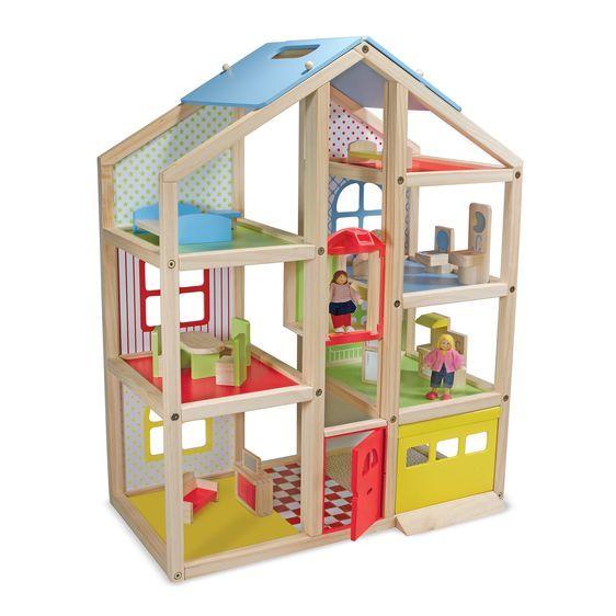 Leļļu māja ar mēbelēm un iedzīvotājiem Melissa and Doug 12462