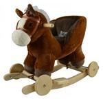 Šūpuļzirdziņš ar riteņiem Zirgs GS6103W