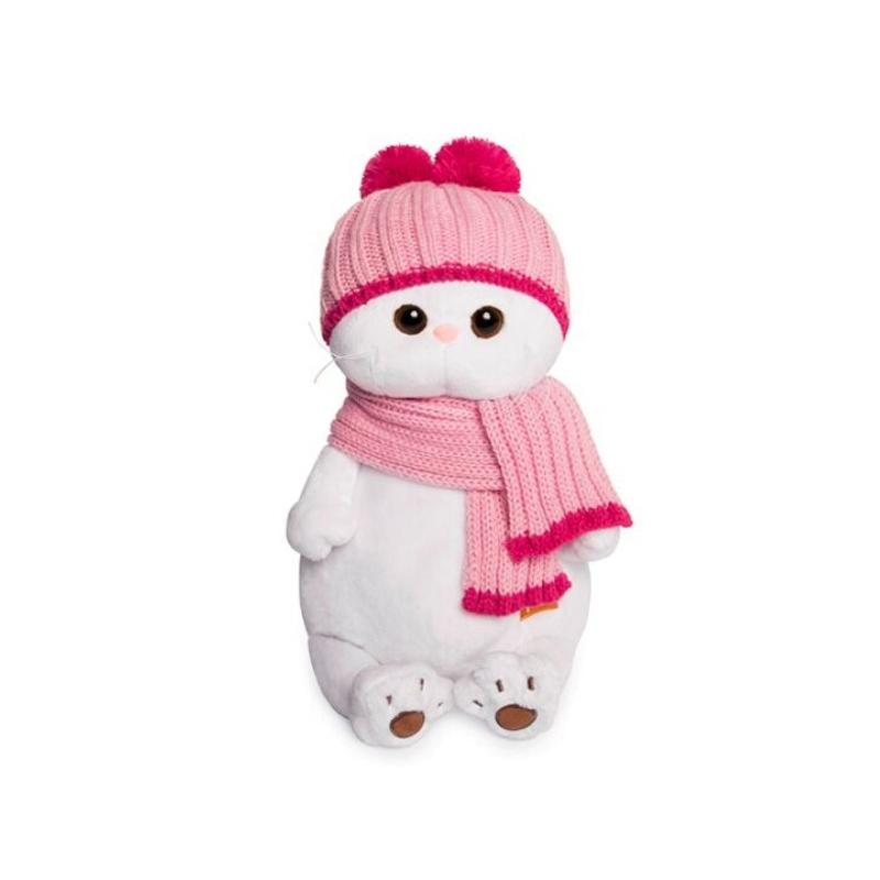Mīkstā rotaļlieta kaķene Li-Li ar cepuri un šalli 27cm Budi Basa LK27-022