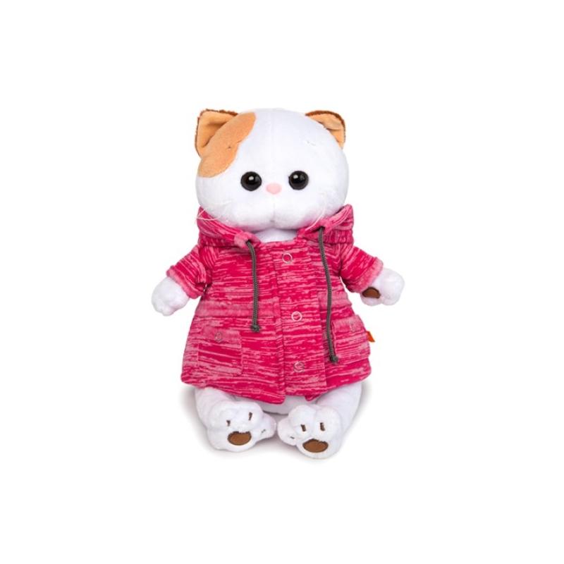 Mīksta rotaļlieta kaķene Li-Li rozā jakā 27cm Budi Basa LK27-021