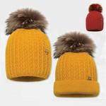 Cepure ar dabīgo bumbuli BARBARAS WJ39
