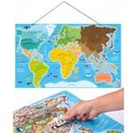 Magnētiskā puzle – Pasaules karte Woody WD91290