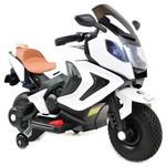 Bērnu motocikls ar akumulatoru, gumijas riteņi BQ-3188-AIR-BIAŁY